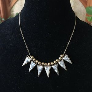 Marble spiked necklace